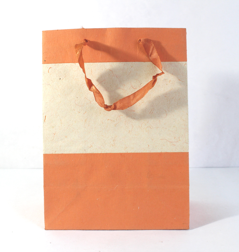 Recycled Handmade Cotton Paper Gift Bag Camelon Exports